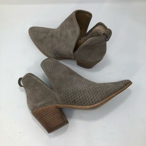 Lucky Brand Perforated Bashina Split Top Booties